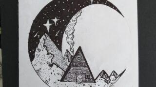 choza en la luna